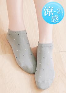 涼感愛心舒適短襪