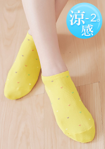 涼感限定愛心舒適短襪