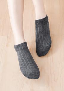 質感坑條純棉柔感短襪