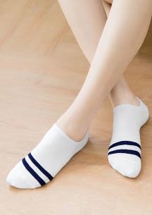 純棉條紋隱形襪