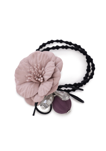 甜美花朵水晶墜飾髮圈