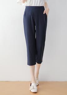 俐落質感壓摺西裝寬褲