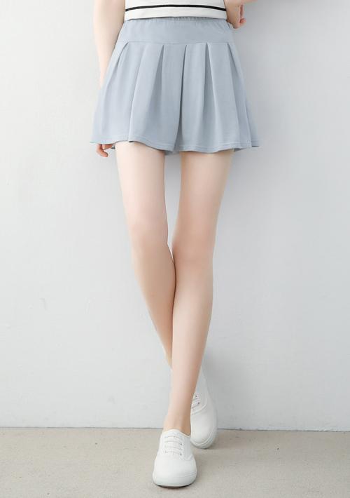 俏麗好感百摺短褲裙