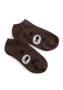 可愛熊熊柔感短襪