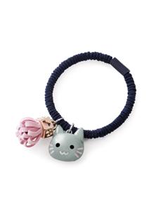 貓咪流蘇吊飾髮圈