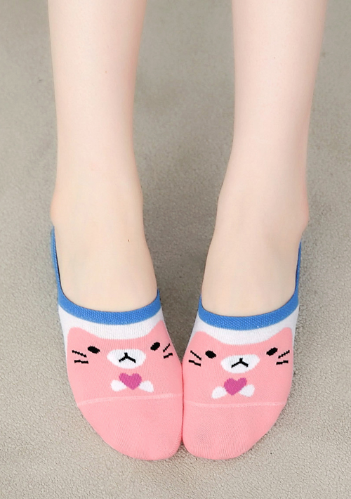 愛心貓咪舒適止滑隱形襪