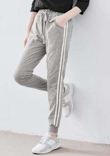 韓款側織帶抽繩休閒褲
