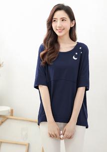 【限時$179】舒適棉感星月設計上衣