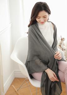 素雅親膚棉麻絲巾