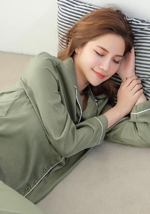法式柔感居家睡衣套組