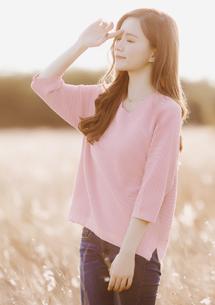 微醺春漾短版針織衫-粉