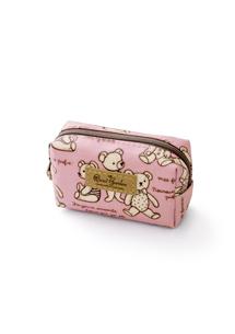 可愛熊熊防水皮標零錢包