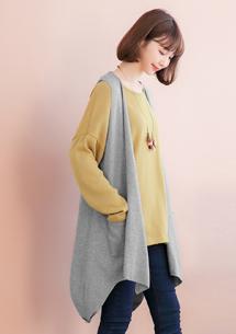 韓版造型針織背心外套