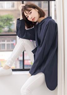 自然率性棉質襯衫
