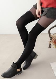 顯瘦必備假膝上褲襪