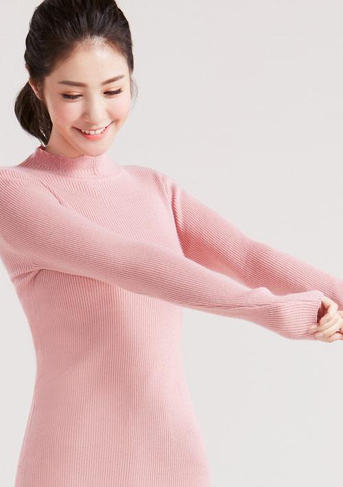 【限時$188】花邊小高領針織衫