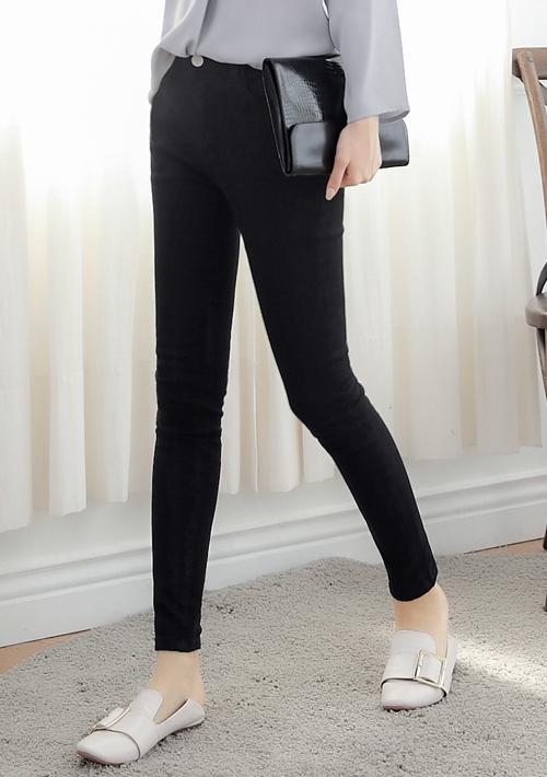 韓版顯瘦彈性窄管褲