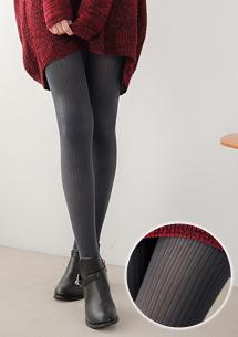 柔感超彈坑條織紋褲襪