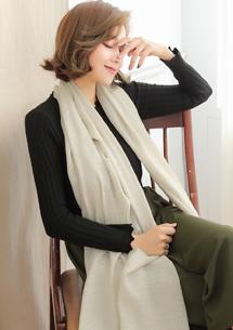 清雅氣質棉麻絲巾