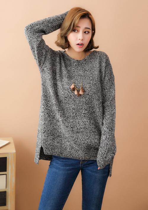 混色針織毛衣