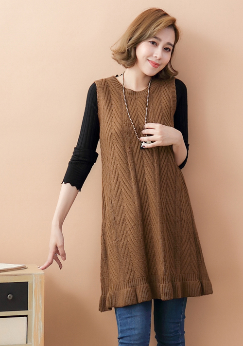 甜柔氛圍麻花針織洋裝