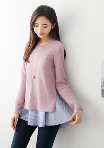 兩件式條紋針織毛衣