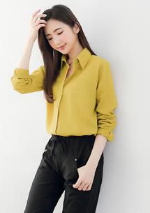 兩件式條紋棉麻襯衫