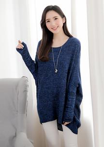 混色紡針織毛衣