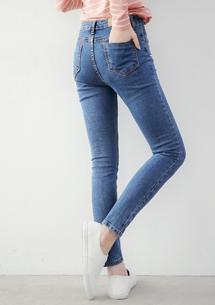 韓版顯瘦窄管牛仔褲