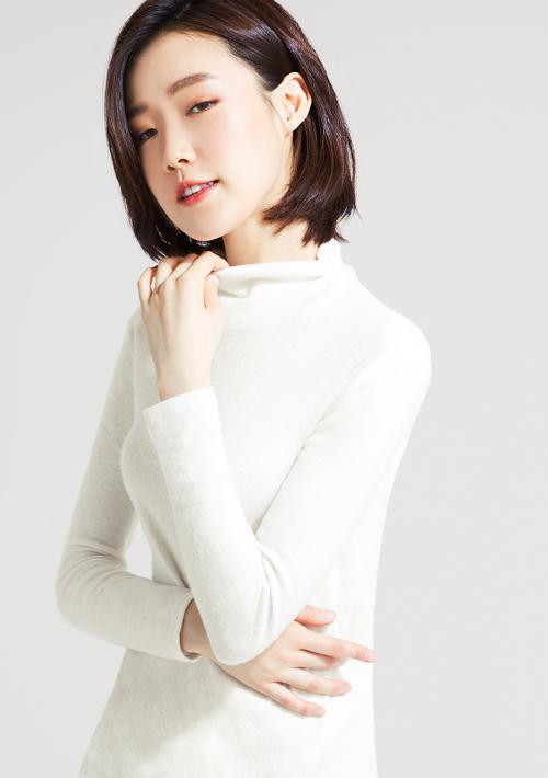 柔暖磨毛條紋高領上衣