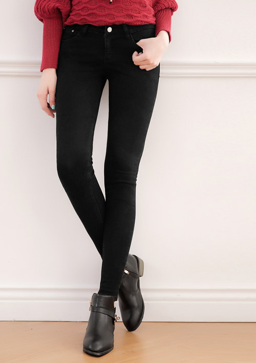 顯瘦保暖內磨毛牛仔褲