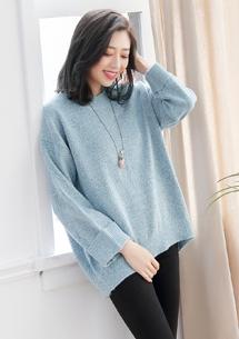 暖感格調混色針織毛衣