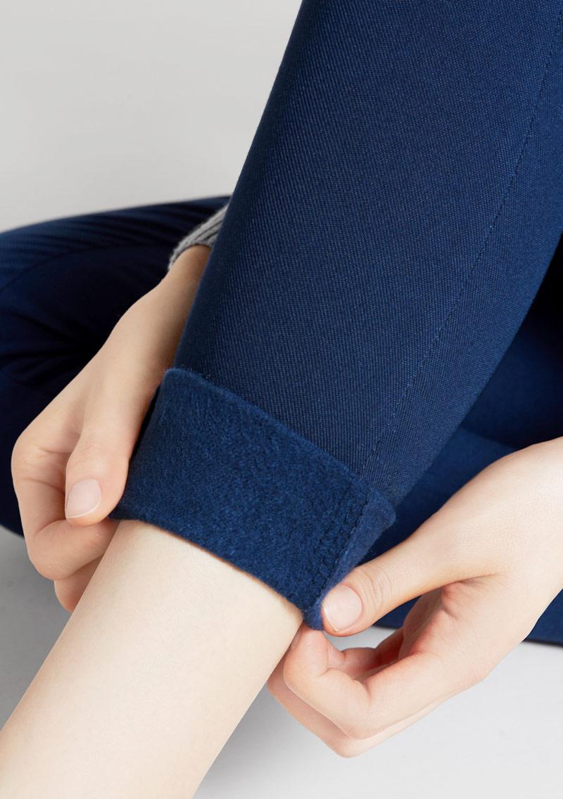 暖感修身內磨毛窄管褲