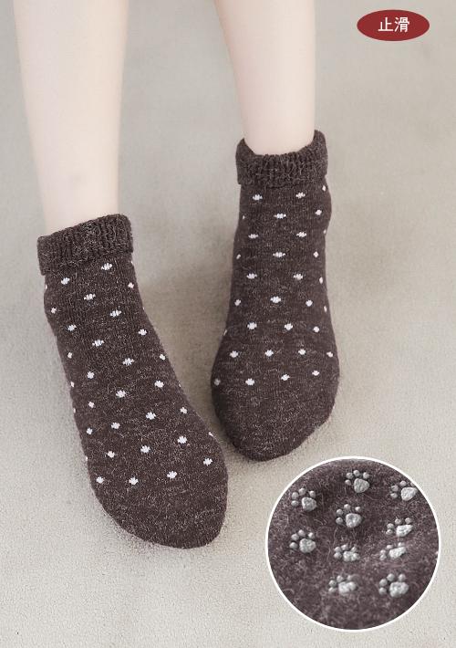 羊毛混紡止滑保暖襪