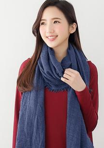 優雅品味質感壓皺圍巾