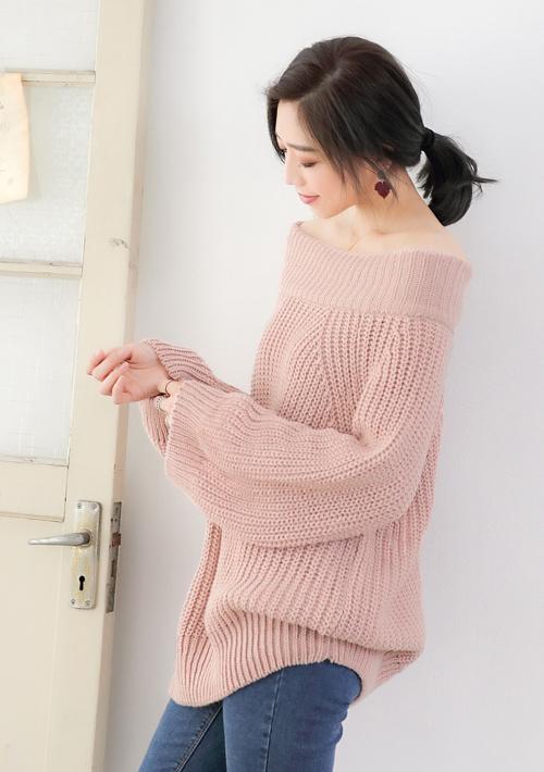 輕甜暖意粗針織毛衣