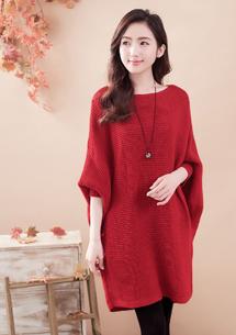 寬版針織毛衣