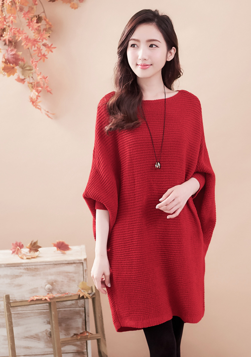 慵懶美感寬版針織毛衣