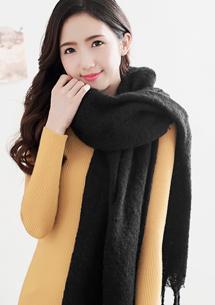 細柔親膚暖感珍珠絨圍巾