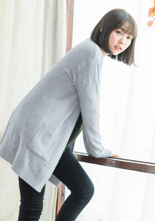 輕質柔感開襟針織外套