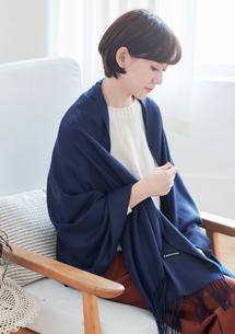 時尚柔感混羊絨圍巾