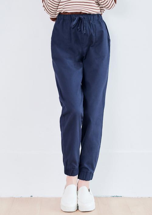 挺版質感縮口休閒褲