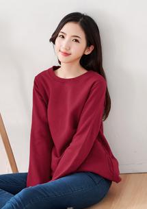 暖冬厚棉刷毛口袋長上衣-酒紅