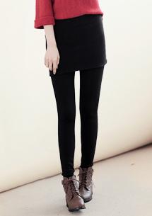 極暖加厚刷毛短裙內搭褲