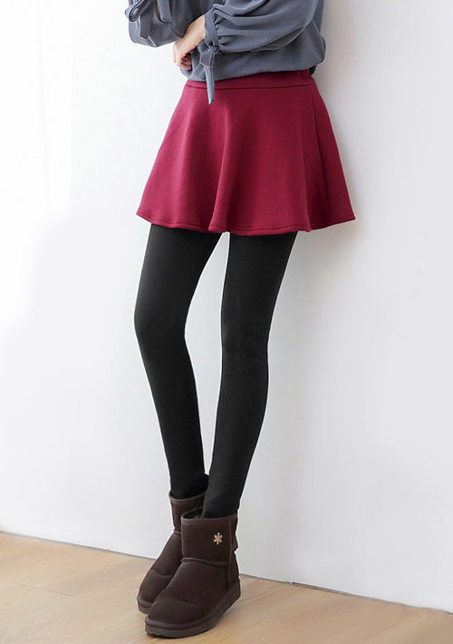 極暖加厚刷毛圓裙內搭褲