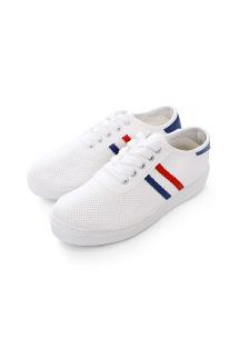 美式配色條紋透氣休閒鞋