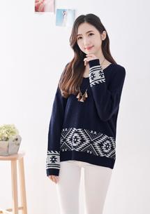 雪花針織毛衣