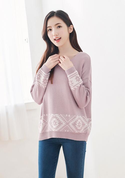靜謐暖冬雪花針織毛衣