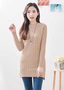 暖感小高領包芯紗針織毛衣