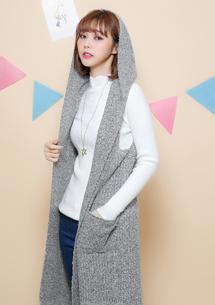 MIT 暖感針織背心外套